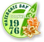 Cornwall Watergate Bay 1976 Surfer Surfing Design Vinyl Car sticker decal 97x95mm